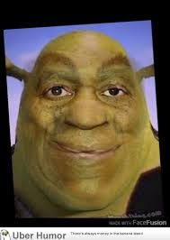Funny Bill Cosby Memes - so i decided to mesh shrek and bill cosby s face funny pictures