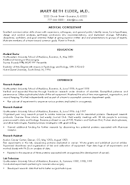 Examples Of A College Resume by Medical Doctor Resume Example Sample