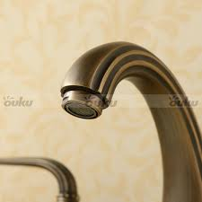 antique brass retro widespread bathroom sink faucet bath sink