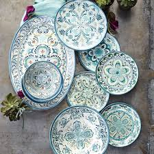 veracruz blue melamine dinner plates williams sonoma