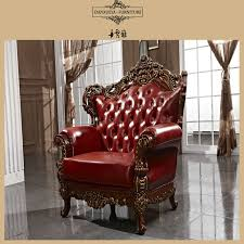 Top Quality Leather Sofas Top End Turkish King Royal Palace Carving Pure Leather Sofa Set