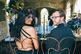dark romance styled shoot raleigh durham nc halloween wedding