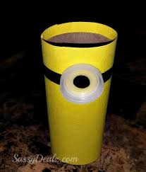minion toilet paper roll craft for kids despicable me crafty