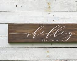 personalized wood wall etsy