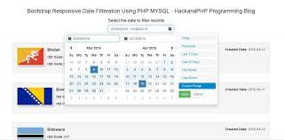 excel date format to mysql bootstrap responsive date range filtering using php ajax mysql