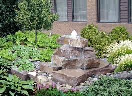 garden water feature rock river and pond small rock water features