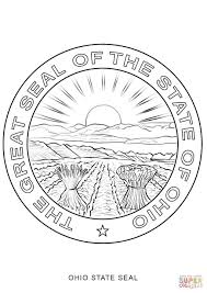 Florida State Flag Image Ohio State Seal Coloring Page Free Printable Coloring Pages Ohio