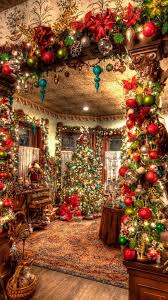 christmas decorations big room tree android wallpaper free