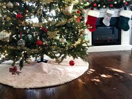 fur christmas easy no sew faux fur christmas tree skirt sammy on state