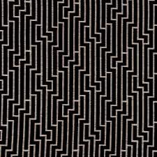 black and grey geometric velvet upholstery fabric for