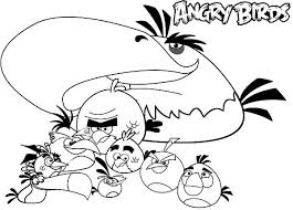 angry bird movie coloring pages place color