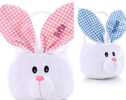bunny basket easter bunny basket etsy