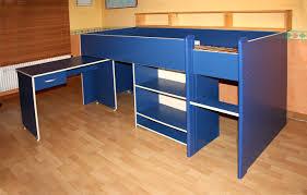 bureau coulissant lit enfant mi hauteur et bureau coulissant