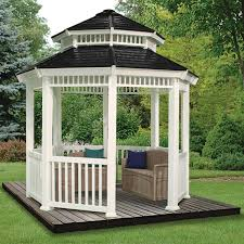 Patio Gazebo 10 X 10 by Suncast 10x10 U0027 Double Roof Gazebo 138484 Awnings U0026 Shades At