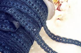 navy lace ribbon popular blue stretch lace buy cheap blue stretch lace