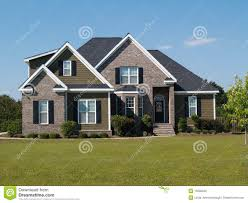 two story brick and vinyl home stock photo image 10206650