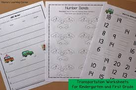 transportation worksheets for kindergarten and first grade mamas