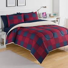 Twin Plaid Comforter Izod Buffalo Plaid Sherpa Comforter 3 Piece Set Free Shipping