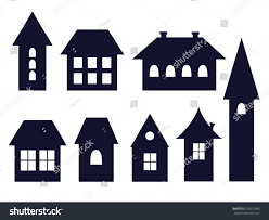 Old Fashioned House Set Old Fashioned House Icons Vector Stock Vector 310672988