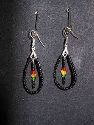 reggae earrings rasta earrings rasta rastafari empress irie earring one