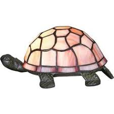 double tortoise turtle green amber tiffany style desk crackle