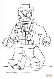 spiderman lego coloring sheets coloring page cartoon
