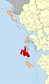 Kefalonia Greece Map by