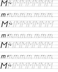 tracing lines for alphabet letter m worksheets for preschoolers