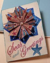 Nautical Themed Christmas Cards - tea bag folding joy card 1 origami cards by paper imaginations
