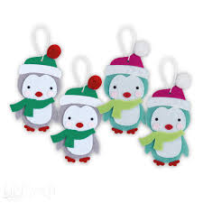 felt penguin ornament craft kit makes 4 www dpcraft pl