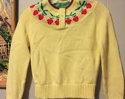strawberry sweater strawberry sweater etsy