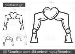 wedding arches canada wedding arch line icon stock vector 820296102 istock