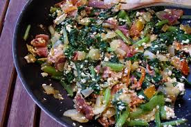 cuisiner des blettes fraiches poêlée de feuilles de blettes au jambon serrano et à la ricotta
