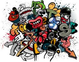 graffiti design graffiti wall design vector material 04 vector other free