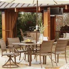 Patio Dining Set With Umbrella Outdoor Furniture Patio Seating Dining Lounges Decor Panama