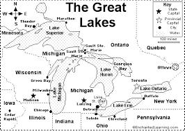 canadian map quiz great lakes map quiz printout enchantedlearning