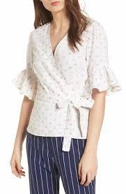 white wrap blouse white blouses nordstrom