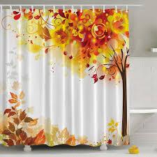 ambesonne fall leaves print shower curtain reviews wayfair