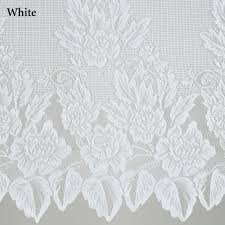 Black And White Bedroom Valances Easy Style Hallie Magnolia Lace Panel With Attached Valance