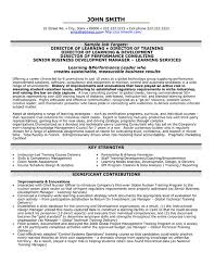 executive resumes templates a resume template for a director of learning you can it