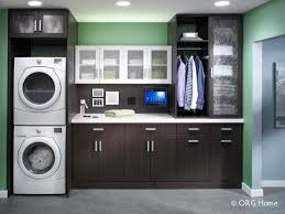 Laundry Cabinet With Hanging Rod Laundry Room Cabinet Accessories Innovate Home Org Columbus