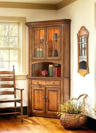 corner hutch cabinet for dining room rustic corner hutch goodtuesday co