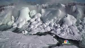 nbc exclusive drone footage captures frozen niagara falls nbc