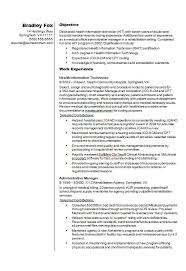 health information technician cv résumé example how to write a cv