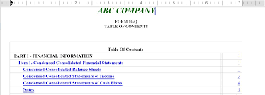 creating a table of contents and hyperlinks wdesk help