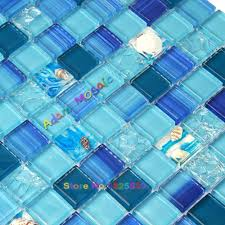 online get cheap ocean blue tile aliexpress com alibaba group ocean blue mosaic tile bathroom wall tiles kitchen backsplash glass conch sea shell sheets