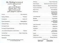 wedding bulletins exles wedding renewal ceremony programs