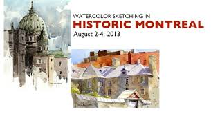 watercolor sketching in historic montreal an urban sketchers