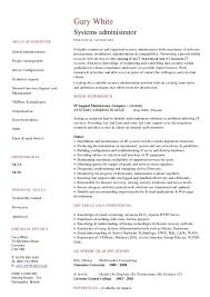 resume format for administration best resume format for experienced system administrator photos