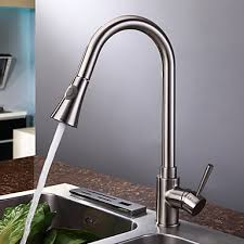 Brushed Nickel Single Handle Kitchen Faucet by Nickel Brushed Finish Contemporary Single Handle Kitchen Faucet